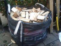 I Tonne Builders Bag Of Hardwood Logs