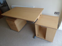 Beech Effect Home Office Furniture (Staples)