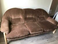 Three Seater Sofa and Chair G plan retro style