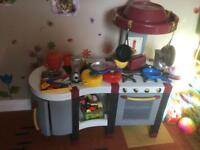Smoby Tefal Toy Kitchen with accessories & toy food
