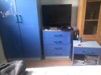 Wardrobe Bedside Table and chest of drawers set