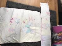 Girls cot bumper & matching quilt set