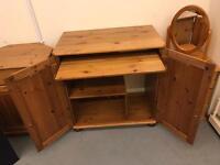 Pine side unit/ computer desk