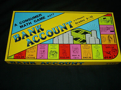 Bank Account Creative Teaching 1982 Excellent Condition