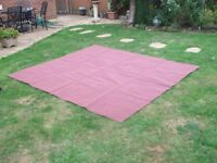 Groundsheet * breathable* Red * 250cm x 220cm approx