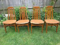 vintage hardwood dining chairs