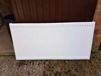 Brand new & unused white horizontal radiator H62cm x W122cm x D6cm