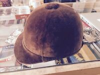 Small riding brown hat - perfect for anyone new to riding.