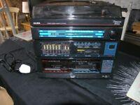 Vintage Alba Music Centre Double Cassette System Designer Series