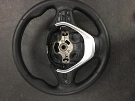 BMW 1 series leather steering wheel