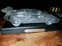Hofbauer crystal car, Lamborghini countach paper weight