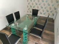 Original Italian Designer Glass Dining Table RRP £3000