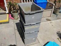 Gray storage boxs