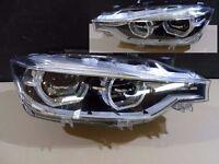 Car part: Pair New OEM Left hand drive Bixenon AHL headlights BMW F30 F31 2011 LHD MOT TUV APK ITV