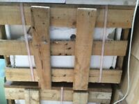 2 crates of unpolished large square marble tiles, crates unopened