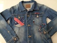 GORGEOUS M&S girls denim jacket indigo collection age 5-6