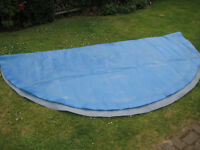 Solar cover for 12 ft above ground swimming pool or splash pool