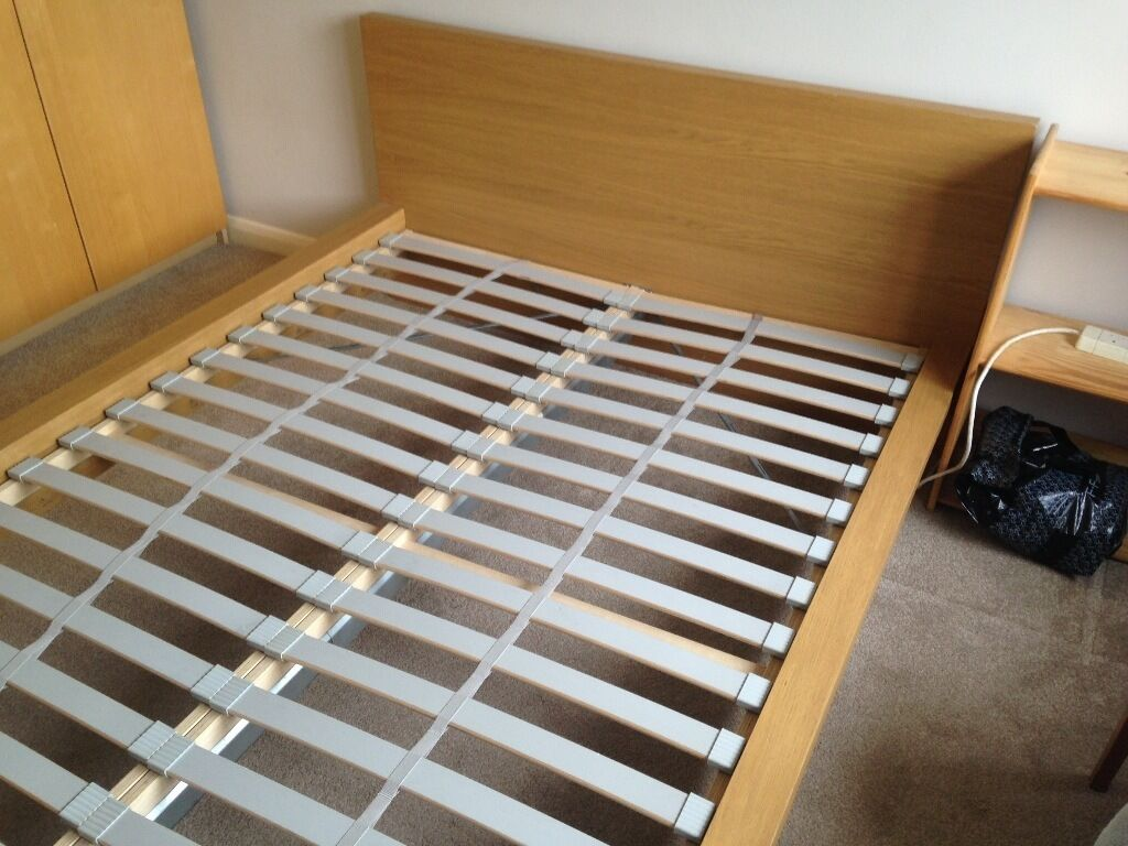 ikea malm bed frame with sultan luroy slats could deliver locally in broadstone dorset gumtree. Black Bedroom Furniture Sets. Home Design Ideas