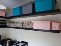 Large Ikea Lack Shelves Black-Brown x4