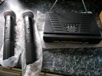 Twin radio microphones