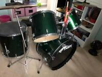 Drum kit, cymbals, practice mats and more