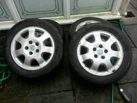 VAUXHALL 5 stud alloys and tyres