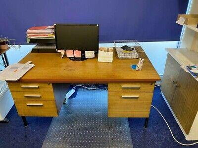 Industrial Vintage  Office Desk Desks Job Lot