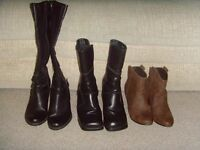 SELECTION OF LADIES BOOTS,SIZES 5 &6 - £1 EACH