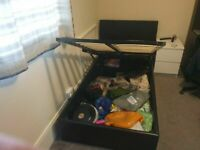Natalia Black Single Ottoman Bed excellent condition and very solid unmounted already