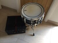 Remo Snare Drum (with stand and hard case)