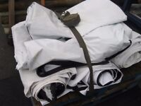 Tarpaulin Sheets For Sale, They Are Plain White On Side, (£20 Each) Roughly 6 x 3m