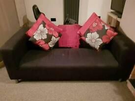 Ikea black sofa