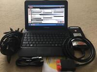 "Full Dealer Car Diagnostic 15.3 Delphi, WoW & Haynes Pro In 10"" Asus Netbook"