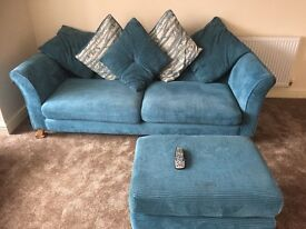 Immaculate 3 & 2 seater sofa only a year old... Changed colours in room hence selling