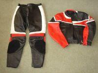 Jumbo International Santana motorcycle / motorbike leather suit. Ladies size 14