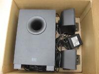 Altec Lansing BXR1321 Three-Piece Stereo Speaker System.