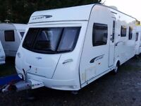 2011 Lunar Lexon 560 Fixed ISLAND BED Caravan with Motor Mover and Road Pro Satellite Dome, Receiver