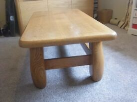 Coffee table, solid wood, very sturdy piece of furniture.