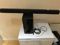 Wireless LG Sound bar with subwoofert.