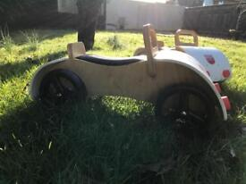 Child's Wooden Ride-on Car