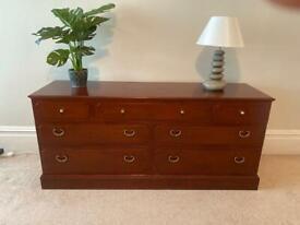 1970's G-plan multi drawer bedroom chest