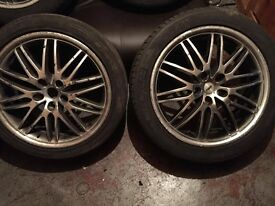 """TSW alloy wheels 18 """"with tires 5x110"""