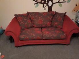 Three seater and two seater floral sofa