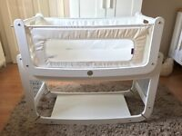 Snüz SnuzPod 2 3-in-1 Bedside Crib, White - hardly used