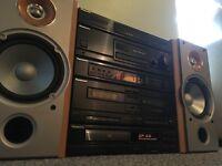 panasonic hifi with sony loudspeakers 265 watts