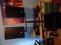 PA system 300w with cross over and bass bin all icuded (mixer) chords LD 150
