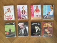 Assorted DVDs, comedy and workout