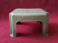 Silver Stool made of Sturdy Plastic