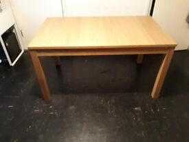 BJURSTA Extendable Dining table, Oak veneer, seats 6 easily