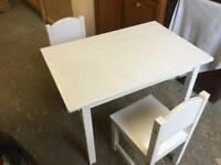 IKEA CHILDS TABLE AND CHAIRS